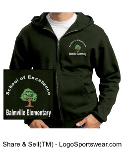 School of Excellence Adult Hoodie Green Design Zoom