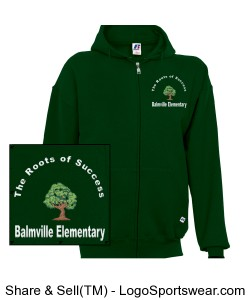 Balmville Adult Hoodie Green Design Zoom