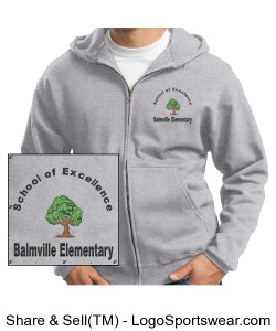 School of Excellence Adult Hoodie Grey Design Zoom