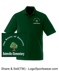 Balmville Adult Polo Design Zoom
