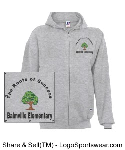 Balmville Adult Hoodie Grey Design Zoom